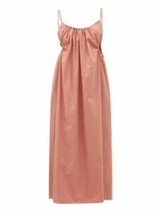 Araks - Yeraz Gathered Tie-back Cotton Dress - Womens - Pink