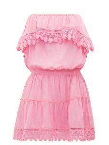 Melissa Odabash - Joy Ruffled Strapless Mini Dress - Womens - Pink