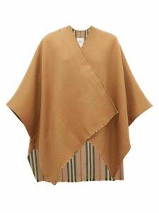 Burberry - Charlotte Nova-stripe Oversized Wool Scarf - Womens - Beige