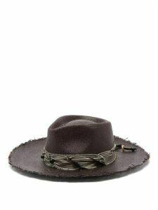 House Of Lafayette - Johnny Straw Panama Hat - Womens - Black
