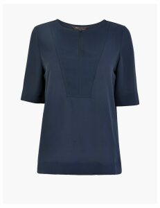 M&S Collection Bib Front Short Sleeve Shell Top