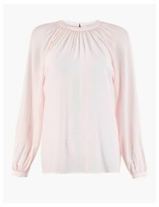 M&S Collection Gathered High Neck Blouse