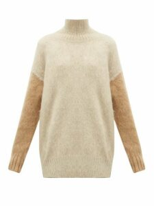 Burberry - Otama Fluffy Roll-neck Sweater - Womens - Beige Multi