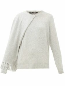 Proenza Schouler - Draped Cashmere Sweater - Womens - Light Grey