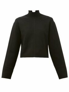Proenza Schouler - Raised-seam Mock-neck Jersey Cropped Sweater - Womens - Black