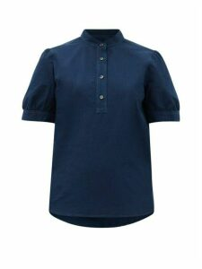 A.p.c. - Ilna Cotton Blouse - Womens - Navy