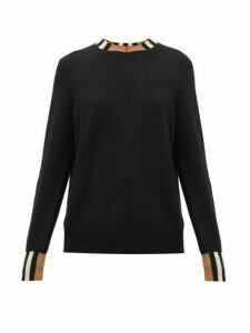 Burberry - Eyre Icon-striped Cashmere Sweater - Womens - Black