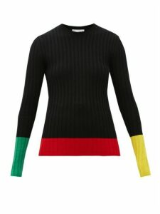 Jw Anderson - Colour-blocked Merino-wool Sweater - Womens - Black Multi