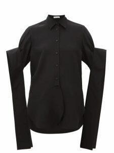 JW Anderson - Crystal-embellished Cotton Poplin Shirt - Womens - Black