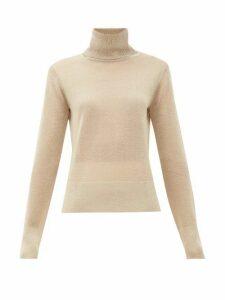Altuzarra - Lexia Metallic Roll-neck Sweater - Womens - Beige
