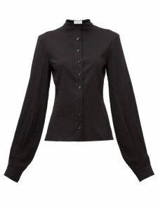 Lemaire - Balloon-sleeve Silk-blend Shirt - Womens - Black