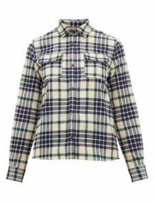 A.P.C. - Checked Cotton-blend Flannel Shirt - Womens - Black Multi