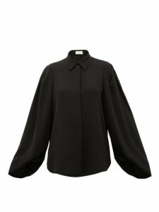 Sara Battaglia - Balloon-sleeve Cady Blouse - Womens - Black