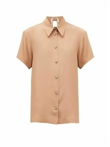 No. 21 - Star-button Crepe Blouse - Womens - Beige