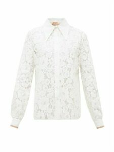 No. 21 - Exaggerated Point Collar Floral-lace Shirt - Womens - Cream