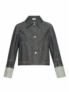 Loewe - Contrast-stitch Denim Jacket - Womens - Indigo