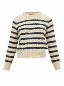 Weekend Max Mara - Chiffon Sweater - Womens - Cream Navy