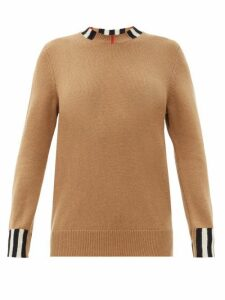 Burberry - Eyre Icon-striped Cashmere Sweater - Womens - Beige
