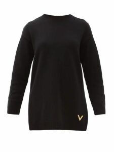 Valentino - V-logo Cashmere Sweater - Womens - Black