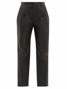 REDValentino - High-rise Leather Trousers - Womens - Black