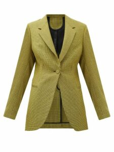 Petar Petrov - Jaffa Houndstooth Wool And Mohair-blend Jacket - Womens - Black Yellow