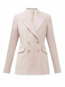 Gabriela Hearst - Angela Double-breasted Wool-blend Blazer - Womens - Pink