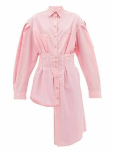 Natasha Zinko - Deconstructed Asymmetric Cotton Shirt - Womens - Pink