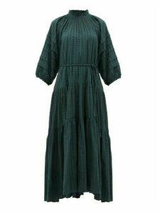Apiece Apart - Trinidad Balloon-sleeved Fil-coupé Dress - Womens - Green