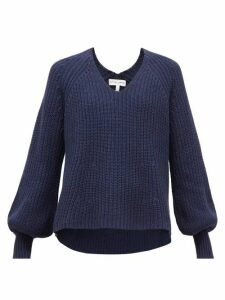 Apiece Apart - Sequioia Balloon-sleeve Cotton-blend Sweater - Womens - Navy
