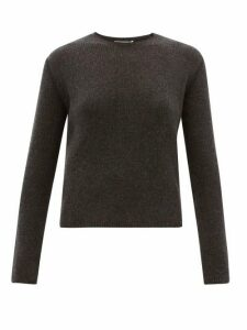The Row - Imani Round-neck Cashmere Sweater - Womens - Dark Grey