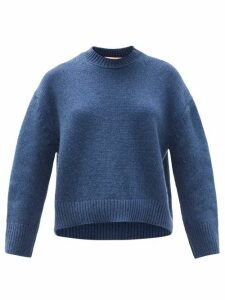 Brock Collection - Drop-shoulder Cashmere Sweater - Womens - Blue