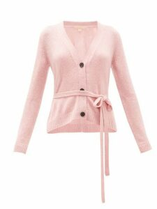 Brock Collection - Belted Cashmere Cardigan - Womens - Light Pink