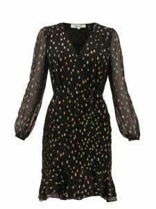 Diane Von Furstenberg - Bea Lamé Fil-coupé Dress - Womens - Black Multi