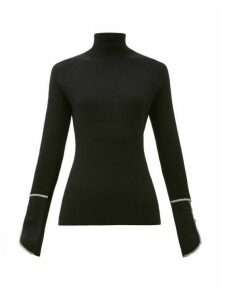 Proenza Schouler - Piped Roll-neck Silk-blend Sweater - Womens - Black