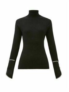 Proenza Schouler - Piped Roll-neck Silk-blend Sweater - Womens - Black