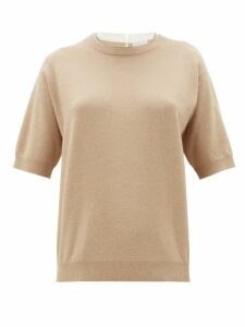 Brunello Cucinelli - Monili Trim Cashmere, Wool And Silk Sweater - Womens - Beige