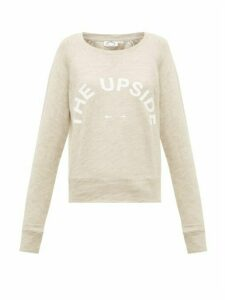 The Upside - Horseshoe-logo Cotton Sweatshirt - Womens - Beige