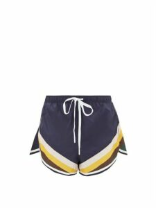 The Upside - Sunrise Striped Performance Shorts - Womens - Navy Multi