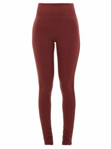 The Upside - Berry Dance Side-stripe Stretch-jersey Leggings - Womens - Burgundy