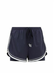 The Upside - Eddy Stretch-jersey Drawstring Shorts - Womens - Navy White