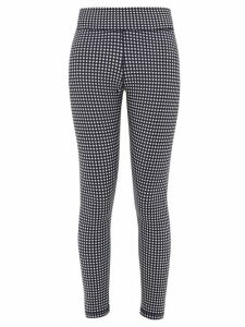 The Upside - Checked Stretch-jersey Cropped Leggings - Womens - Navy White