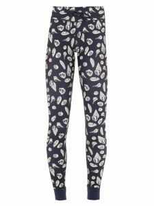 The Upside - Shell-print Stretch-jersey Leggings - Womens - Navy Multi
