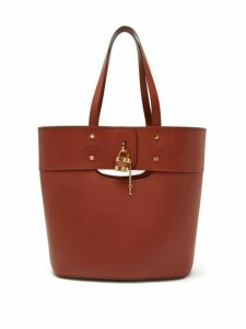 Chloé - Aby Large Grained-leather Tote - Womens - Dark Brown