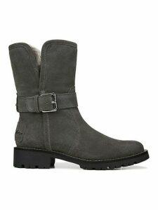 Jeanie Faux-Fur Lined Weatherproof Suede Boots