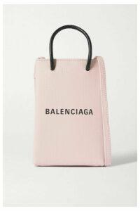 Balenciaga - Shopping Mini Printed Textured-leather Shoulder Bag - Pink