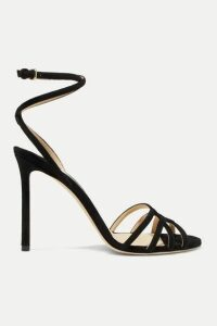 Jimmy Choo - Mimi 100 Suede Sandals - Black