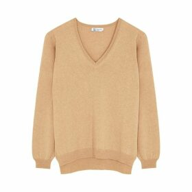 Johnstons Of Elgin Loretta Camel Cashmere Jumper