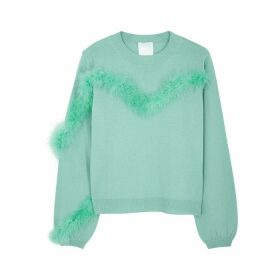 IN. NO Florence Feather-trimmed Wool-blend Jumper