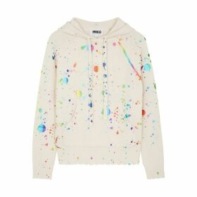 THREADS OF PRVLG Off-white Printed Cashmere Jumper