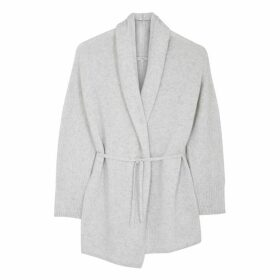 Vince Grey Wool And Cashmere-blend Cardigan